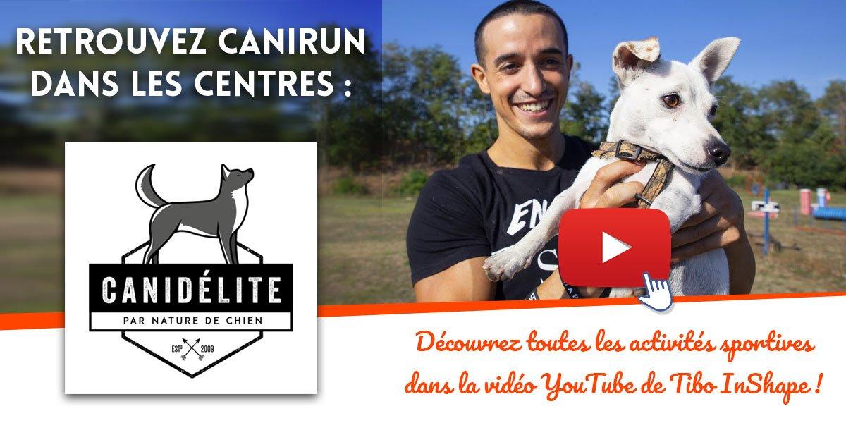 Canirun chez canidelite Vidéo Youtube de Tibo InShape